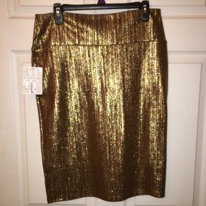 Lula Roe Cassie skirt - Gold!